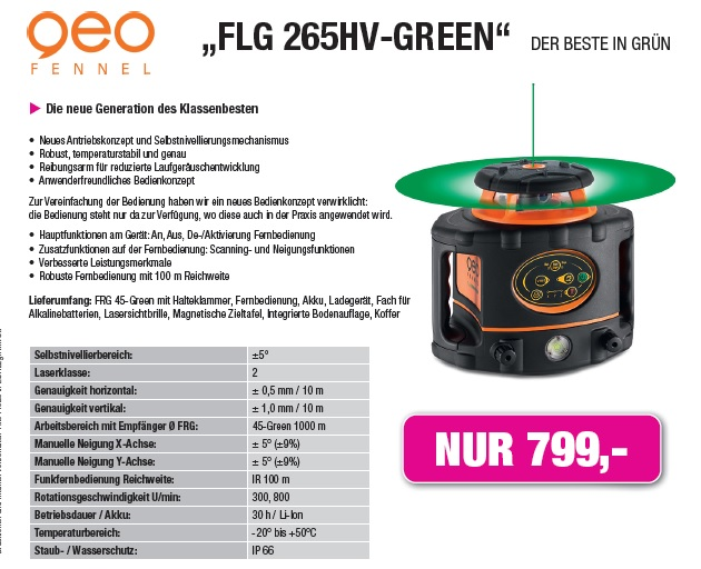 Aktionspreis FLG 265HV-Green