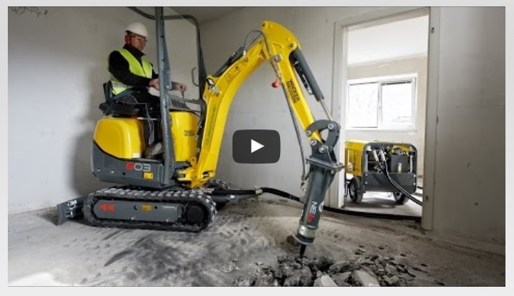 VIDEO Wacker neuson 803 Dual Power in Aktion